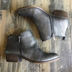 Lucky Brand Basel Booties, Silver, Size 9